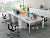 4 het Rechte Bureau van het Werkstation van het Personeel van het Bureau Seater met de Verdeler van het Scherm (HF-DA05B)