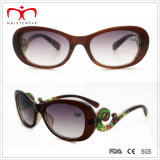 Form Style Ladys Sun Reader Glasses mit Special Temple (WRP411412SR)