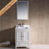 Vaidade do banheiro da madeira contínua, gabinete de banheiro