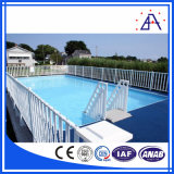 Revestimento em pó cercado de piscina com cor branca ou preta