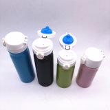 doubles bouteilles d'eau de flacon de thermos de vide d'acier inoxydable du mur 500ml
