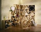 Soporte de visualización de madera del cubo del vino de las ventas calientes para el almacenaje del vino
