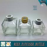 bottiglia di olio di vetro quadrata dell'aroma 100ml con il coperchio a vite a lamella