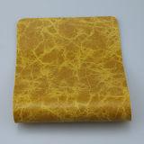 좋은 품질 소파 실내 장식품 (F8002)를 위한 합성 대리석 무늬를 넣는 PU 가죽