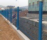 2017 проволочная изгородь, PVC покрыла загородку ячеистой сети, загородку металла