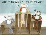Decorazione sveglia Toys-2asst. della casa del gatto del panno morbido