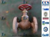 Válvula de globo de bronze marinha JIS F7303 F7304 16k