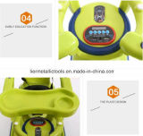 carro de bebê 2.4G de controle remoto com barra do impulso