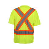 T-shirt da segurança de Reflcetive da alta qualidade com classe 2