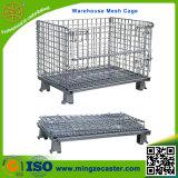Cage lourde industrielle de maille d'entrepôt de chariot à main