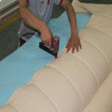 Lederfarbene beige lederne Bett-Ausgangshotel-Möbel-Wohnzimmer-Schlafzimmer-Set-moderne Möbel, Fb2102