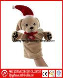 Jouet de marionnette de main de peluche de Noël pour des gosses