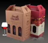 Gewölbter Flöte-Karton-Kasten für Wein-Flaschen-Verpackung