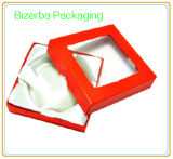 Cadre de bijou coloré de cadeau de carton avec le guichet de PVC/Pet