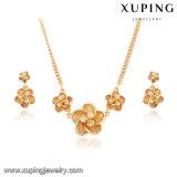 63952 l'oro di modo 18k ha placcato il fiore dei monili impostato per il giorno della madre