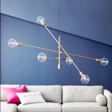 Postmodern Art-Innenbronze/Messing-/schwarzes Metall, das hängende Lampen-Lichter für Esszimmer hängt