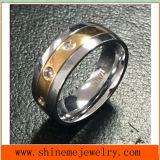 El anillo de dedo del acero inoxidable del diseño único de titanio (TR1827)