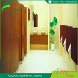 Decorativa HPL Laminate Cubicle WC Partition with Nylon Accessories