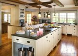 Cabina de cocina americana clásica de madera sólida del estilo