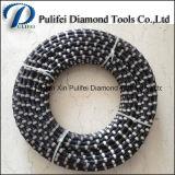 Fio de diamante de corte de borracha de mola para máquina de serra de fio de corte de granito de mármore