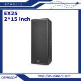 Caixa profissional do altofalante do altifalante da polegada 2*15 para ao ar livre (EX25 - TACTO)