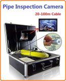 """sistema impermeable de la cámara del examen de la serpiente de la alcantarilla de la pared del tubo del monitor de color de 7 """" TFT con el cable BMS-900 de la fibra de vidrio del 100m"""
