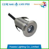 Luz subacuática al aire libre de 1W LED en IP68