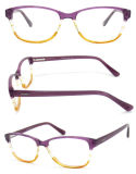 2015 Atacado Colorful Girl Optical Glasses with Acetrate Frame e Heart Rubber Temple (Carvalho