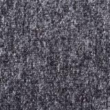 Tela mezclada de las lanas con las caras dobles en negro