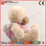 Het gevulde Dierlijke Zachte Roze van de Teddybeer van de Pluche draagt in Doek voor het Meisje van de Baby