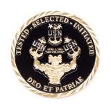 Moneta personalizzata della scheda di insieme dei membri di sfida dello smalto