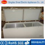 Congelador dobro comercial da caixa da porta de compartimento do congelador dois da temperatura