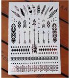 Tatuaje del arte de la etiqueta engomada del tatuaje de la transferencia del agua de dos de los colores etiquetas engomadas del tatuaje