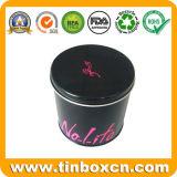 Круглая коробка для промотирования, жестяная коробка олова подарка, коробка подарка металла