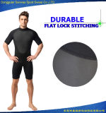 Wetsuit durable de matériel de plongée de chemise de circuit de forme physique du néoprène de l'homme