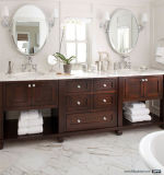 Cabinet de salle de bain en bois massif de luxe Double vasque avec Shlef