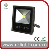 High Power COB IP65 Ultra Slim 85-265V 50W LED Floodlight para uso ao ar livre