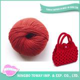 Fio de poliéster acrílico do algodão vermelho de lãs do Slub para o saco de confeção de malhas
