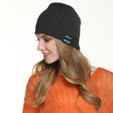 2016 [بلوتووث] [بني] شتاء دافئ ليّنة يحبك قبعة مع لاسلكيّة سمّاعة رأس