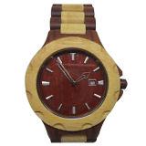 Relógio personalizado forma com o relógio de madeira do calendário