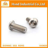 Tornillo de socket Hex de la pista del botón de ISO7380 Ss304/316