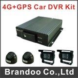 Поддержка 3G/GPS/WiFi передвижного DVR 4 SD канала карточки в реальном масштабе времени