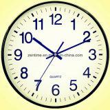 고아한 큰 벽 유리 시계