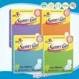 Sonnige Mädchen-Farben-gesundheitliche Servietten