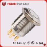 CE RoHS (19мм) Кольцо-Освещение Мгновенное фиксацией Промышленные Кнопочный переключатель