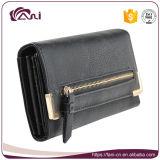 Оптовый черный бумажник PU пинка для повелительниц