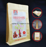 Flache Unterseiten-Fastfood- Beutel-Aluminiumfolie-Reißverschluss-Verschluss-Kaffee-Beutel-Packpapier-lamellierte aufrechte Nahrungsmittelplastiktasche