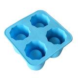 Bandeja de hielo del silicón de la dimensión de una variable de la taza molde/4PCS del fabricante de la bandeja del cubo de hielo del silicón/de la taza del helada