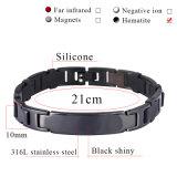 Les bio éléments de la meilleure santé d'acier inoxydable ont plaqué le bracelet noir