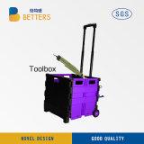 中国の収納箱のローズの赤の新しい電力の工具セットボックス